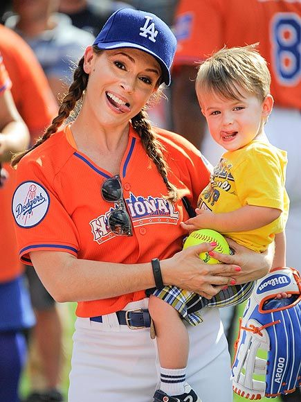 Our celebrity fans are hotter than yours! Alyssa Milano repping the Dodgers at the 2013 ASG.