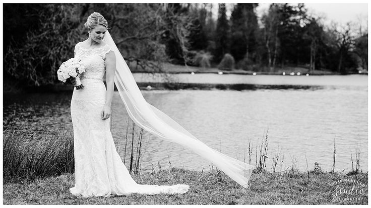 Veil in the wind at Coniston Hotel wedding in Skipton | Yorkshire wedding photography by colinmurdochstudio.co.uk