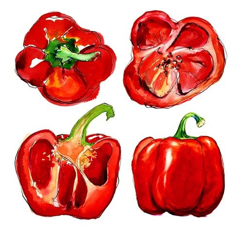 David Hawson print of peppers