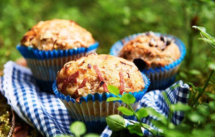 Ta med muffins i sekken neste gang du skal på tur! Matmuffins har alt det gode inni. Oppskrift og tips til fyll til muffins.