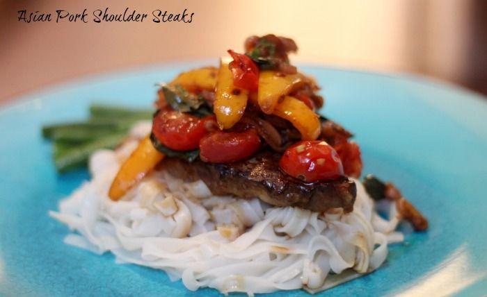 HONEYGOLIGHTLY: Braised Asian Pork Shoulder Steaks  http://www.honeygolightly.com/2014/09/braised-asian-pork-shoulder-steaks.html  #pork #dinner #recipe #asian #glutenfree