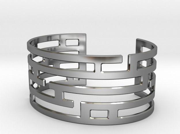 Maze Bracelet 3d printed Jewelry Bracelets Premium Silver https://www.shapeways.com/model/2123936/maze-bracelet.html?materialId=81