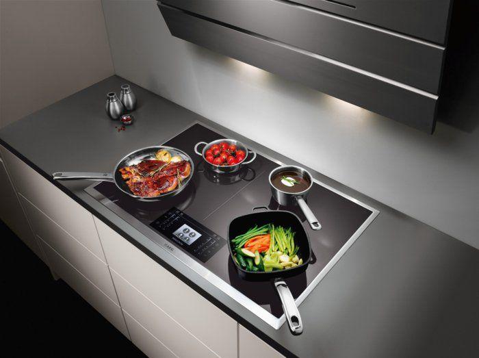 küche einrichten induktionsherd funktion