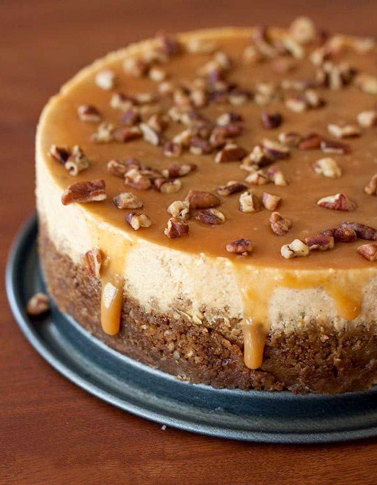 Cheesecake citrouille, noix de pécan, caramel - La citrouille, star des desserts de Thanksgiving - Elle à Table