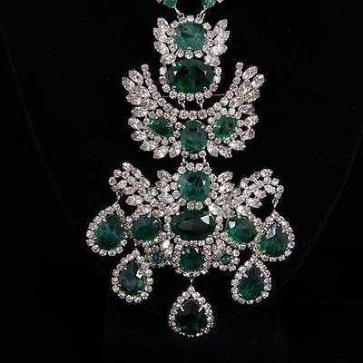 sold - $1100 - 2016 - Splendid-Vintage-Christian-Dior-Emerald-Gripoix-and-Crystal-Chandelie-Lot-230