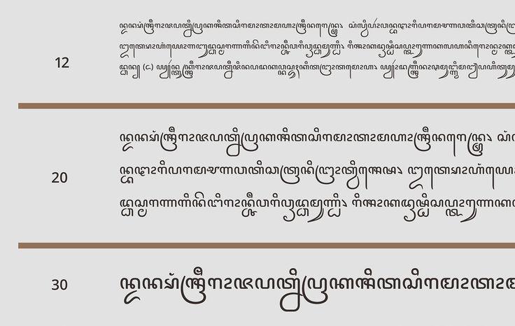 A crisp and modern sans serif for Javanese
