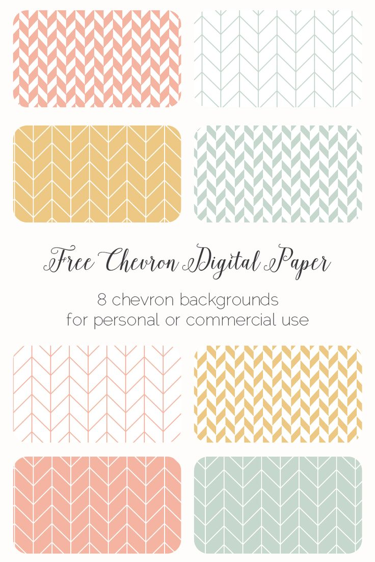 Free chevron backgrounds or digital paper. 8 free herringbone or zig zag patterns to use for your personal or commercial projects.