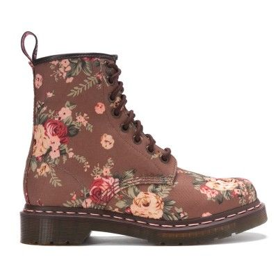 Dr Martens - 1460 Victorian Flowers - Taupe