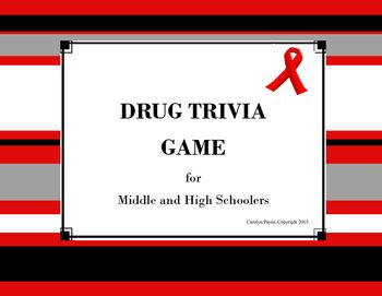 Drug Trivia Game is an excellent resource for a Red Ribbon Week or a health unit…