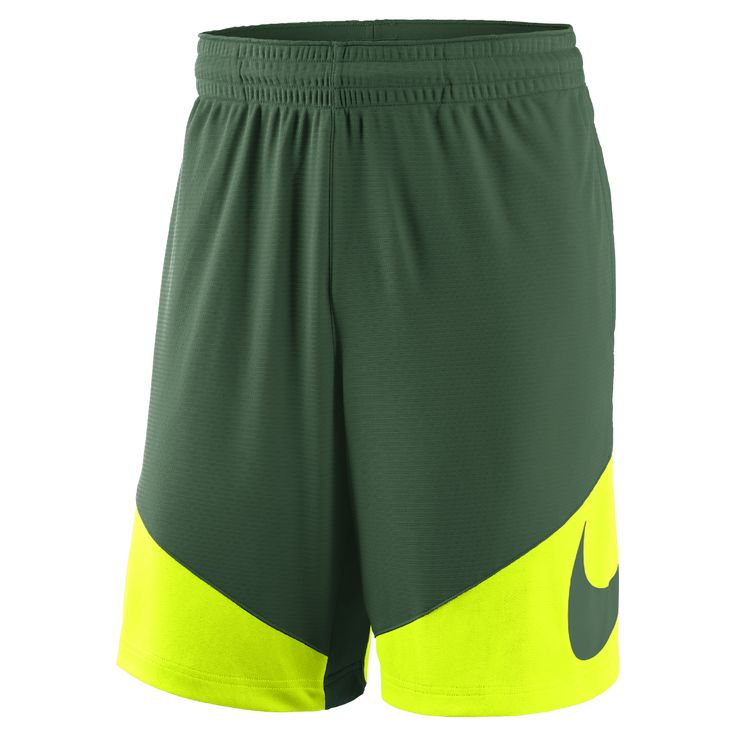 Nike College New Classics (Baylor) Men's Basketball Shorts Size Medium (Green) - Clearance Sale