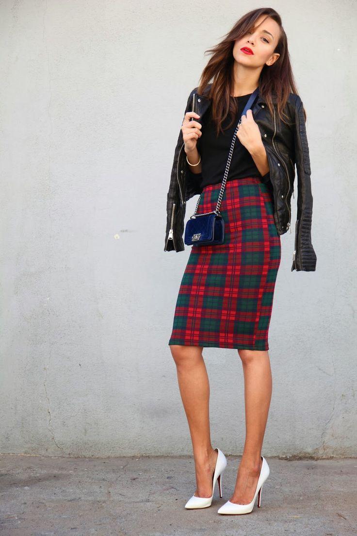 Trend alert topshop check print tube skirt tartan ashley madekwe