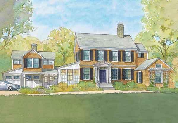 220 best home plans images on pinterest floor plans for Historical concepts house plans