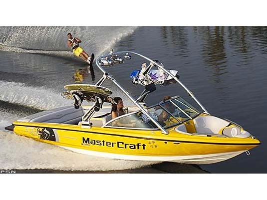 I have to have a ski boat, in yellow, preferably a Master Craft with large speakers & swim deck!