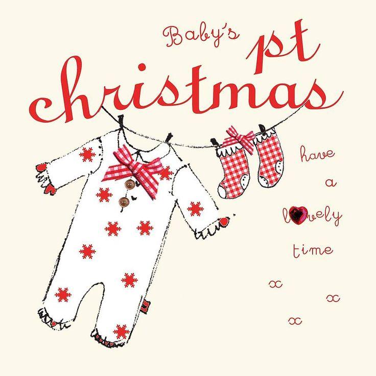 babys first christmas card by laura sherratt designs | notonthehighstreet.com