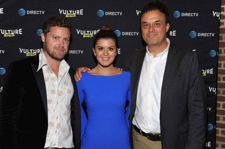 """NEW YORK, NY - MAY 21:  (L-R) Actor Greg Poehler, Actress Priscilla Faia, and CreatorJohn Scott Shepherd at the DIRECTV Screening for """"You Me Her"""" during the 2016 Vulture Festival at the Roxy Hotel on May 21, 2016 in New York City.  (Photo by Craig Barritt/Getty Images for Vulture Festival)"""