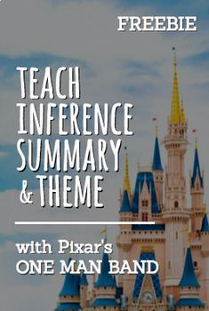 """Inferencing with Pixar Animated Short Film:One Man Band: Common Core ELA Test Prep is FUN with ONE MAN MAND PIXAR VIDEO CLIP ACTIVITIES! Perfect for reluctant readers and students with disabilities. Use PIXAR """"One Man Ban"""" videos to teach inferencing, theme, main idea and summary, plot, conflict, characterization and more!"""