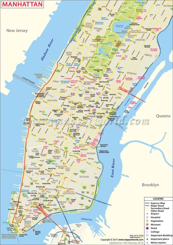 The Best Manhattan Map Ideas On Pinterest Map Of New York - Manhattan us map