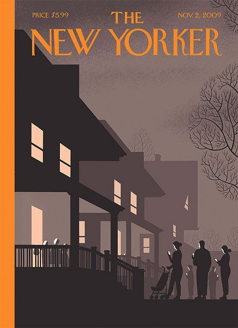 Chris Ware's perfect New Yorker Halloween Cover, November 2, 2009.