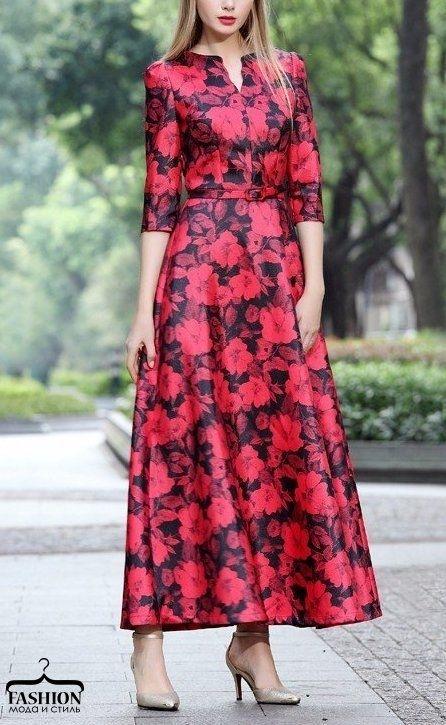 Женственные платья макси с цветочным принтом 0