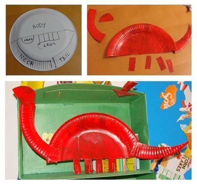 crafts for preschoolers | Cute craft for letter d for dinosaur / Preschool items - Juxtapost