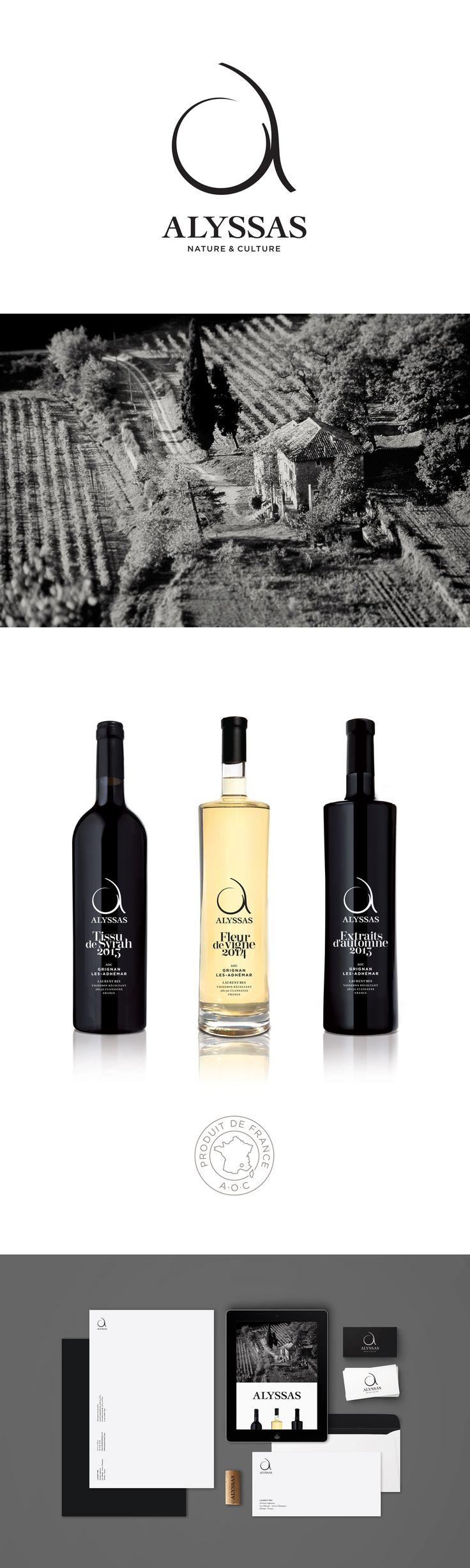 Alyssas | Studio Cosmos | 2015 #vin, #terroir, #logo, #création, #packaging, #graphicdesign, #wine, #france