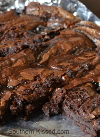 Chocolate and Dulce de Leche Brownies - easy to make.