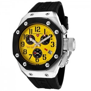 Reloj Swiss Legend Trimix SL-10541-07-BBcon esfera de acero inoxidable pulido y pulsera de caucho color negro. #relojes