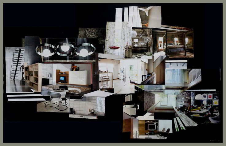 a house for architect-architecture collage