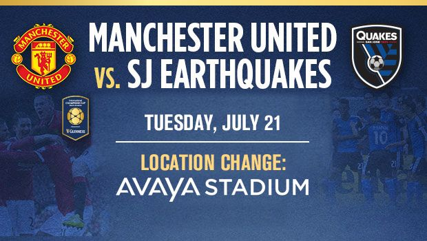 Manchester United Vs Earthquakes Live streaming