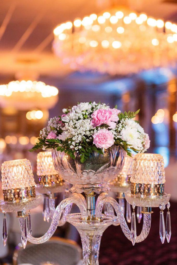 vintage glam wedding - centerpiece