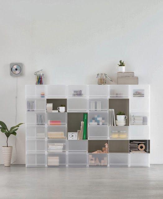 Le scatole di acrilico di Muji per un mondo minimal ed ordinato