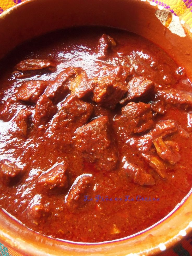 Carne Con Chile Rojo-Beef in Red Chile