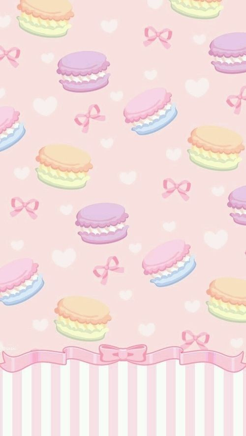 Macaron wallpaper iphone background cute girly bow ...