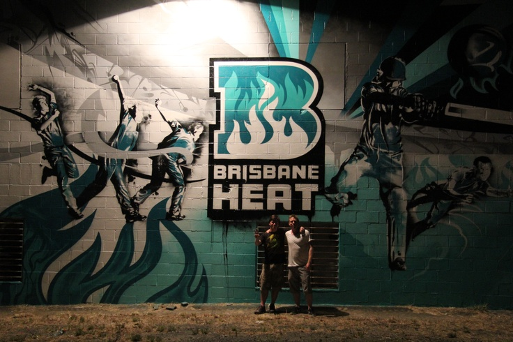 Brisbane Heat Wall Mural