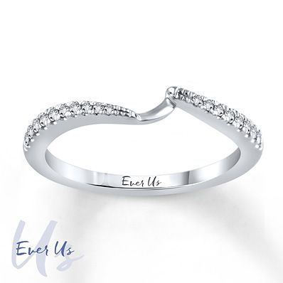 Ever Us Band 1/8 ct tw Diamonds  14K White Gold