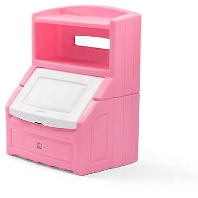 Bookcase Storage Chest Kids Pink Toys Bin Organizer Box Playroom Bedroom Shelf