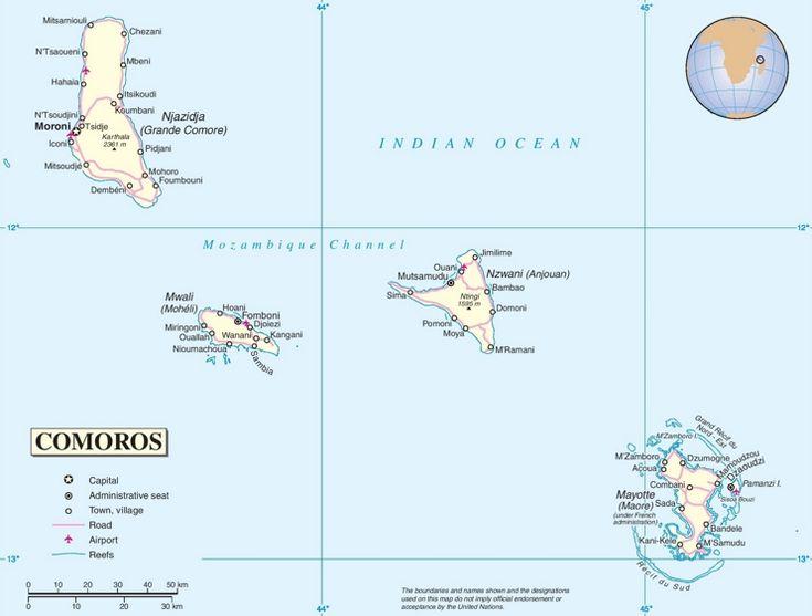 Best Comoros Map Ideas On Pinterest Comoros Islands Comores - Comoros map