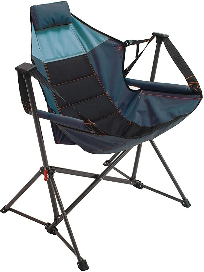 Blue Sky//Navy Rio Gear Breeze Portable Compact Folding Sporting Hammock Sling Chair
