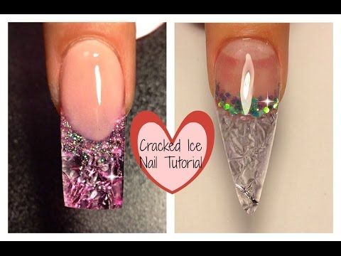 TheNailsQueen Cracked Ice Nail Tutorial #notpolish - YouTube