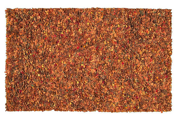 Edith Shag Rug Burnt Orange On Onekingslane Com Floors