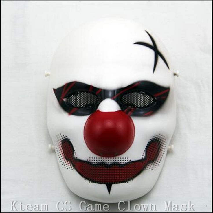 Top Grade 100% Resin Party Cosplay Mask Masqu Scary Clown Mask Payday Halloween Joker Mask For Party Mascara Carnaval Free size