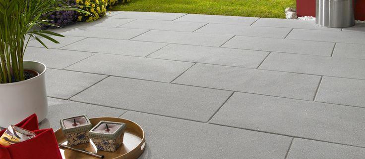 Habanera Terrassenplatten in grau