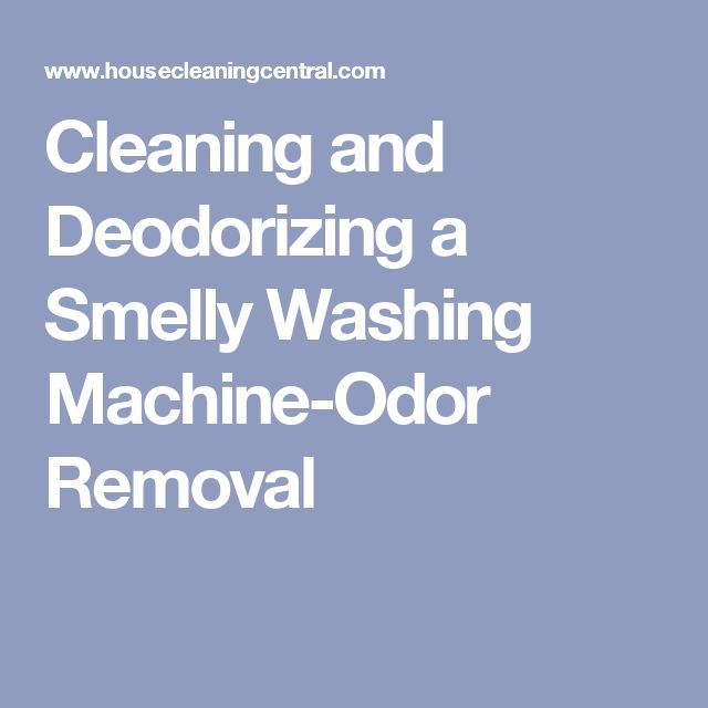 washing machine odors removal
