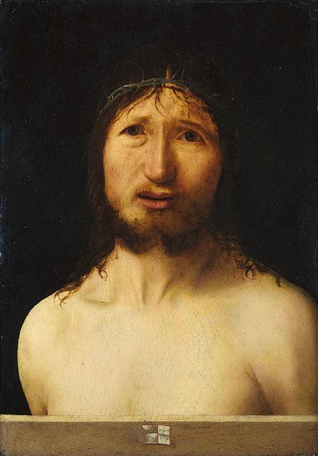 Antonello da Messina (Antonello di Giovanni d'Antonio): Christ Crowned with Thorns (32.100.82)   Heilbrunn Timeline of Art History   The Metropolitan Museum of Art