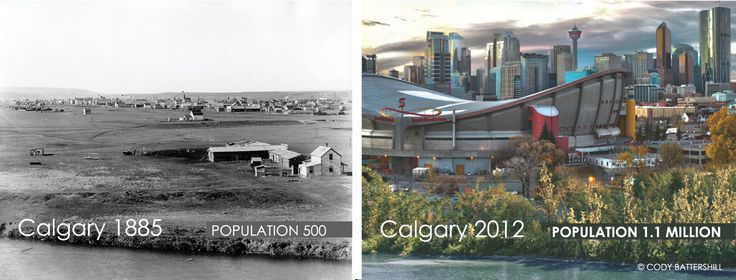 Calgary Then and Now 1885 to 2012. Cool time warp
