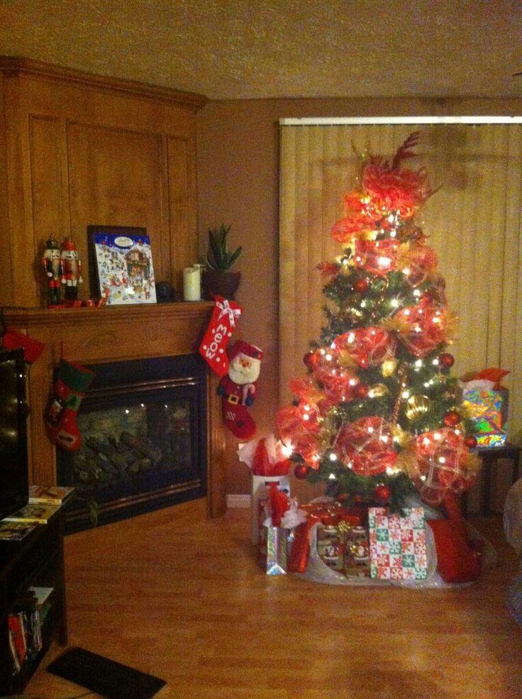 Noël 2012 Sapin classique rouge et or