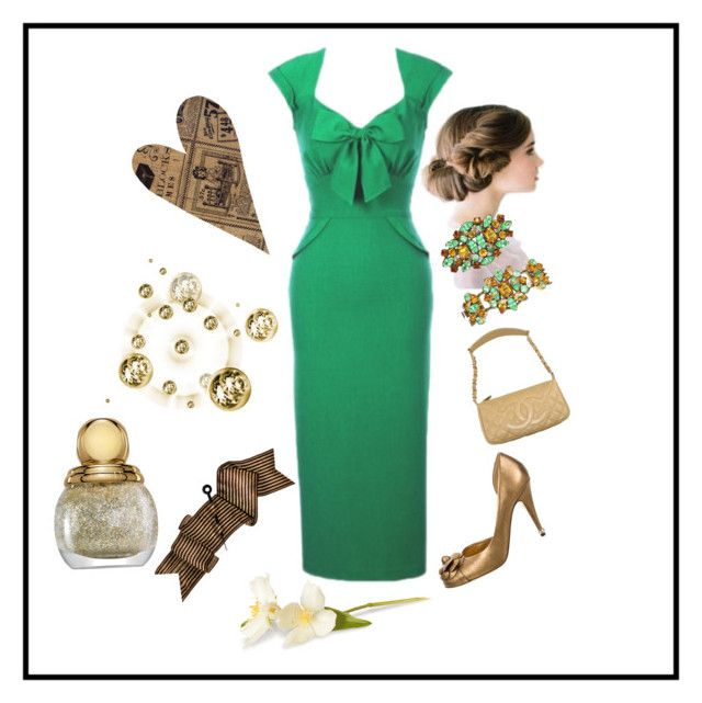 """""""Stop staring -1940s style dress"""" by christina-63 on Polyvore featuring Chanel"""