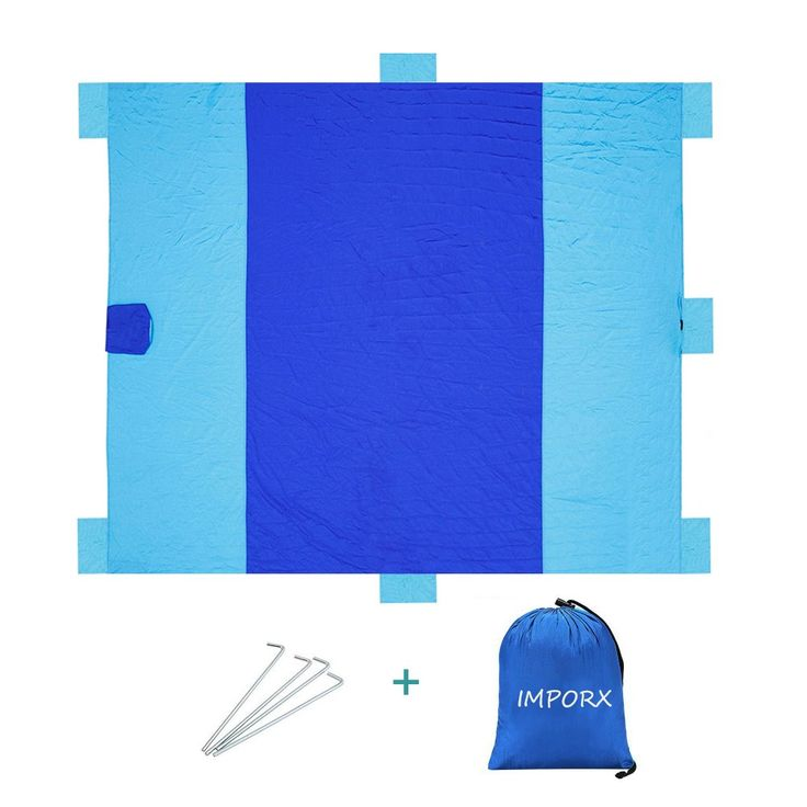 (In Promotion) Extra Large Picnic Blanket Beach Blanket - 8X9.3ft Waterproof Lightweight Camping Mat (X-Large). (Price Cut to $24.99) 8X9.3 feet large blanket; large enough for 6-7 adults lying on it. Waterproof and sand-proof bottom; easy to clean by wiping down with a damp cloth. Foldable and Lightweight blanket, Whole blanket can be fold into a small attached pocket.Small enough to have it all the time, and will not take too much space. Design with 6 sand pockets and 1 additional…
