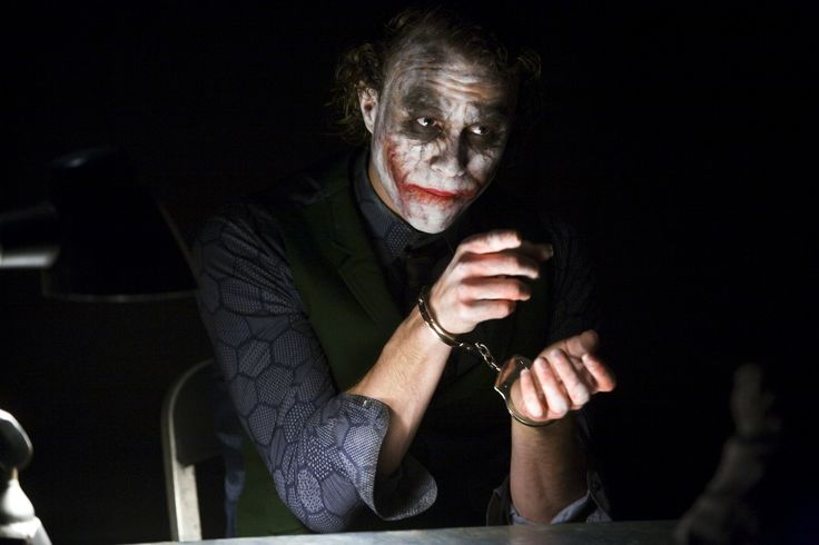 32 on-set photos of Christian Bale and Heath Ledger during the interrogation scene from THE DARK KNIGHT, accompanied with Christopher Nolan interview bytes breaking down the scene - Imgur