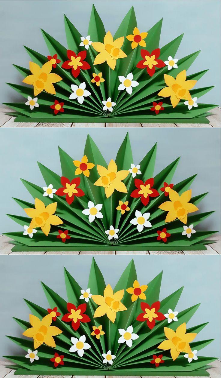ein plissee mit frühlingsblumen  klick für mehr infos